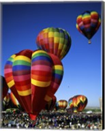 Hot air balloons at the Albuquerque International Balloon Fiesta, Albuquerque, New Mexico, USA Vertical Fine-Art Print