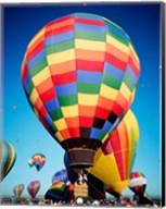 Low angle Closeup Of Hot Air Balloons In The Sky, Albuquerque International Balloon Fiesta, Albuquerque, New Mexico, USA Fine-Art Print