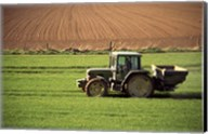 Tractor in a field, Newcastle, Ireland Fine-Art Print