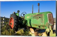 Abandoned tractor in a field, Temecula, Wine Country, California, USA Fine-Art Print