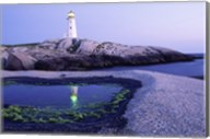 Peggy's Cove Lighthouse, Peggy's Cove, Nova Scotia, Canada Fine-Art Print