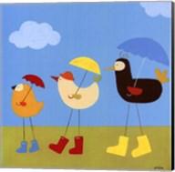 Rainy Day Birds II Fine-Art Print