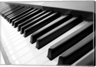 Yamaha P120 close-up of Piano Keys Fine-Art Print