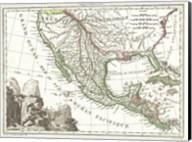 1810 Tardieu Map of Mexico, Texas and California Fine-Art Print