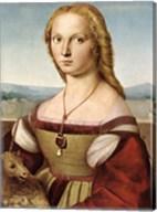 Lady with Unicorn by Rafael Santi Fine-Art Print