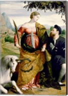 Saint Justina with the Unicorn Fine-Art Print