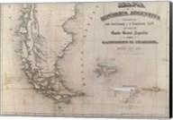 Mapa de la Republica Argentina 1875 Fine-Art Print
