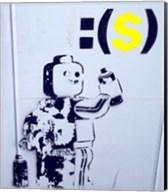 Leggo Man Graffiti - Israel Fine-Art Print