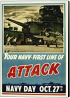 Your Navy First Line of Attack Fine-Art Print