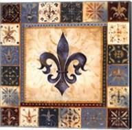 Bleu Fleur De Lis I Fine-Art Print