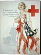 Harrison Fisher WWI American Red Cross Poster Fine-Art Print