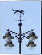 Street Light Detail with Weathervane Fine-Art Print