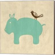 Best Friends- Hippo Fine-Art Print