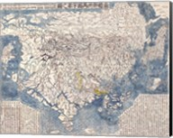 1710 First Japanese Buddhist Map of the World Showing Europe, America, and Africa Fine-Art Print