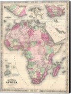1864 Johnson Map of Africa Fine-Art Print