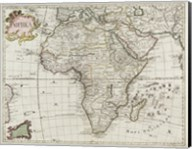 Map of Africa 1745 Fine-Art Print