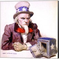 James Montgomery Flagg  -Uncle Sam With Empty Treasury 1920 Fine-Art Print