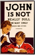 John is Not  Really Dull, WPA Poster, ca. 1937 Fine-Art Print