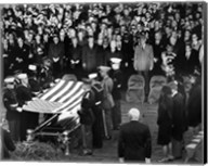Honor Guard Prepares to Fold Flag Over JFK Casket, 25 November 1963 Fine-Art Print