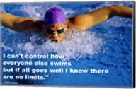 Control - Swimming Quote Fine-Art Print