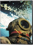 Close-up of a divers helmet under water Fine-Art Print