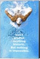 Historic Swimming Quote Fine-Art Print