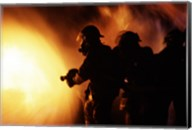 Firefighters during a rescue operation Fine-Art Print