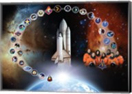 Space Shuttle Columbia Tribute Poster Fine-Art Print