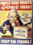 Uncle Sam Wants Your Ideas Keep 'Em Firing Fine-Art Print