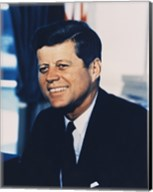 John F. Kennedy, White House Color Photo Portrait Fine-Art Print