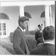 President KennedyGreets Latin American Archivists Fine-Art Print