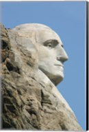 Sideview of George Washington Statue at Mt Rushmore Fine-Art Print