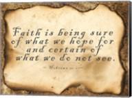 Faith is Being Sure Fine-Art Print