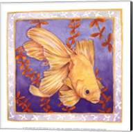 Goldfish On Purple Fine-Art Print