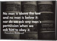 No Man Is Above the Law Fine-Art Print