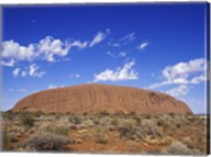 Rock formation, Ayers Rock, Uluru-Kata Tjuta National Park, Australia Fine-Art Print