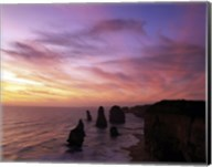 Eroded rocks in the ocean, Twelve Apostles, Port Campbell National Park, Victoria, Australia Fine-Art Print
