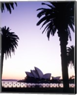 Silhouette of a opera house at dusk, Sydney Opera House, Sydney, Australia Fine-Art Print