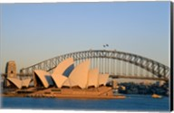 Sydney Opera House in front of the Sydney Harbor Bridge, Sydney, Australia Fine-Art Print