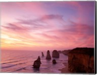 High angle view of rock formations, Twelve Apostles, Port Campbell National Park, Australia Fine-Art Print