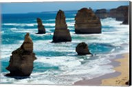 Rock formations on the coast, Twelve Apostles, Port Campbell National Park, Victoria, Australia Fine-Art Print
