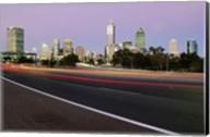 Streaks of light on a road, Perth, Australia Fine-Art Print