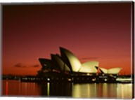 Opera house lit up at night, Sydney Opera House, Sydney, Australia Fine-Art Print
