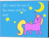 Moon and Stars Unicorn Fine-Art Print