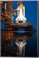 Atlantis STS-135 Rainwater Reflection on Pad Fine-Art Print