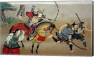 Illustrated Story of Night Attack on Yoshitsune's Residence At Horikawa, 16th Century Fine-Art Print
