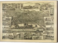 Topographic View of the City of Reading PA. 1881 Fine-Art Print