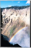 Rainbow over a canyon, Grand Canyon, Yellowstone National Park, Wyoming, USA Fine-Art Print