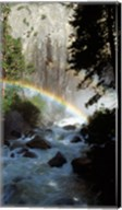 Yosemite National Park, rainbow above stream, USA, California Fine-Art Print