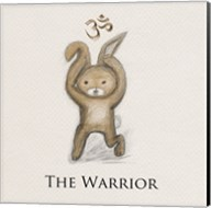Bunny Yoga,The Warrior Pose Fine-Art Print
